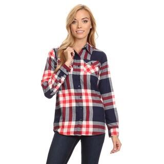 Women's Plaid Button-up Shirt