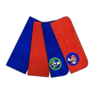Nintendo Super Mario World The Game Continues Washcloth Set, 4-Pack