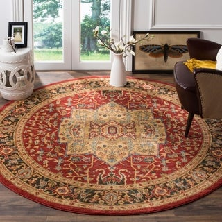 Safavieh Mahal Natural/ Navy Rug (6' 7 Round)