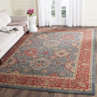 Safavieh Mahal Traditional Grandeur Navy/ Red Rug - 6' 7 Square