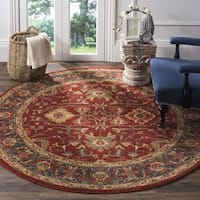 Safavieh Mahal Red/ Navy Rug - 6' 7 Round