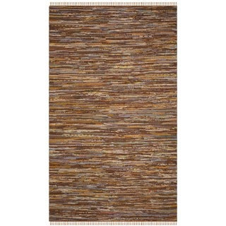 Safavieh Hand-Woven Rag Cotton Rug Gold/ Multicolored Cotton Rug (2' 6 x 4')