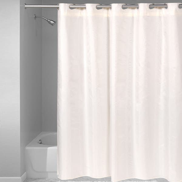 Amazon Com Hookless Waffle Fabric Shower Curtain Size 71 X