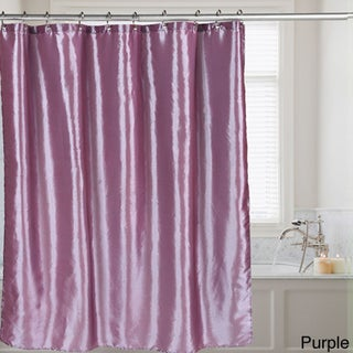 Faux Silk Shower Curtain 70x72 Assorted Colors