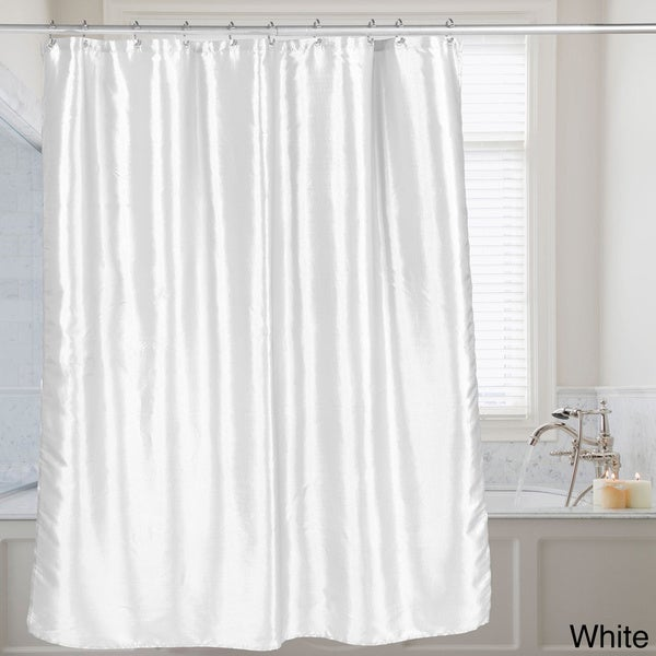Faux Silk Shower Curtain 70x72 Assorted Colors - Free Shipping On ...