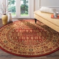 Safavieh Mahal Red/ Natural Rug - 6' 7 Round