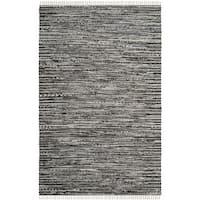 Safavieh Hand-Woven Rag Cotton Rug Grey Cotton Rug (2' 6 x 4')