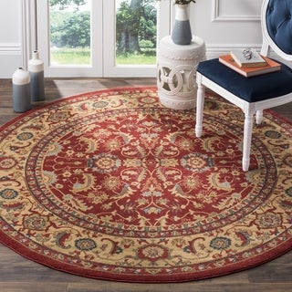 Safavieh Mahal Red/ Natural Rug (6' 7 Round)