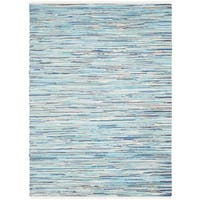 Safavieh Hand-Woven Rag Cotton Rug Turquoise/ Multicolored Cotton Rug (2' 6 x 4')