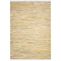 Safavieh Hand-Woven Rag Cotton Rug Gold/ Multicolored Cotton Rug - 2'6 x 4'