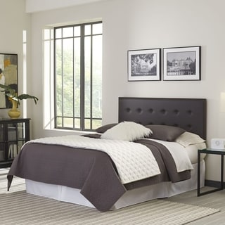 Franklin Adjustable Headboard Panel with Faux Leather Upholstery and Button-Tufted Design