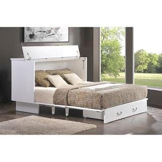 Cottage-Style Cabinet Pull-Out Queen-Size Bed