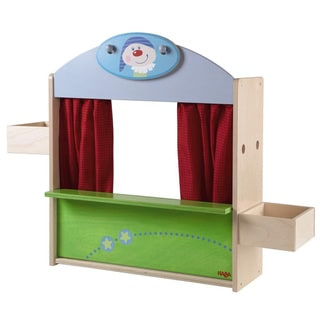 Haba Multicolor Fabric Puppet Theatre/Toy Shop