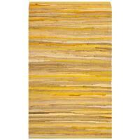 Safavieh Hand-Woven Rag Cotton Rug Yellow/ Multicolored Cotton Rug - 2'6 x 4'