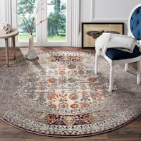 "Safavieh Monaco Vintage Distressed Grey / Ivory Distressed Rug - 6'7"" x 6'7"" round"