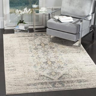 Safavieh Monaco Vintage Distressed Grey / Multi Distressed Rug (5' Square)