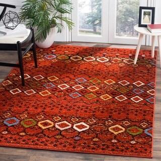 Safavieh Amsterdam Bohemian Terracotta/ Multicolored Rug (7' Square)