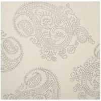 Safavieh Hand-Woven Bella Paisley Ivory/ Beige Wool Rug - 5' Square