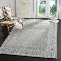 Safavieh Bella Contemporary Handmade Silver/ Light Blue Wool Rug - 5' Square
