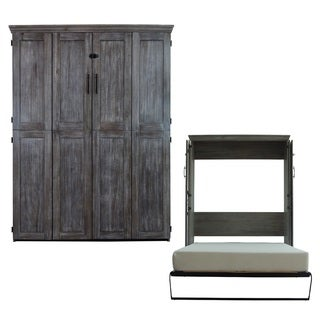Queen Simplicity Murphy Bed in Black Wash Finish