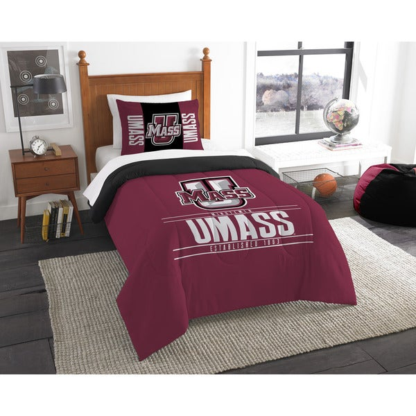The Northwest Co COL 862 Massachusetts Modern Take Red Polyester Twin 2-piece Comforter Set