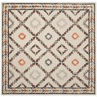 Safavieh Bellagio Handmade Bohemian Ivory/ Multi Wool Rug - 5' Square
