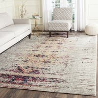 Safavieh Monaco Vintage Chic Distressed Ivory/ Pink Rug - 5' Square