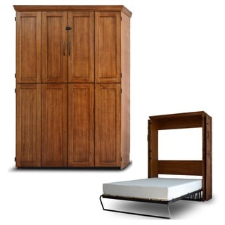 Queen Simplicity Murphy Bed in Chestnut Finish