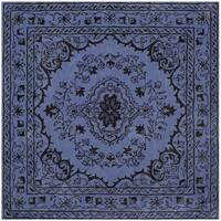 Safavieh Handmade Glamour Contemporary Bohemian Purple Viscose Rug - 6' X 6' Square