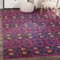 Safavieh Monaco Bohemian Pink/ Multicolored Rug (6' 7 Square)