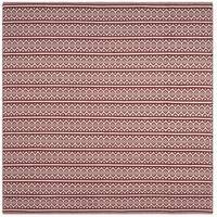 Safavieh Hand-Woven Montauk Flatweave Ivory/ Red Cotton Rug - 6' Square