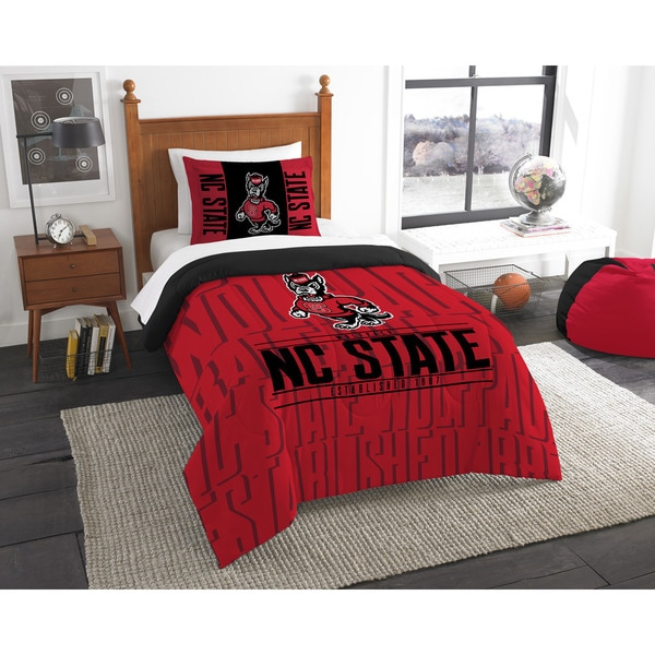 The Northwest Co COL 862 NC State Modern Take Twin 2-piece Comforter Set