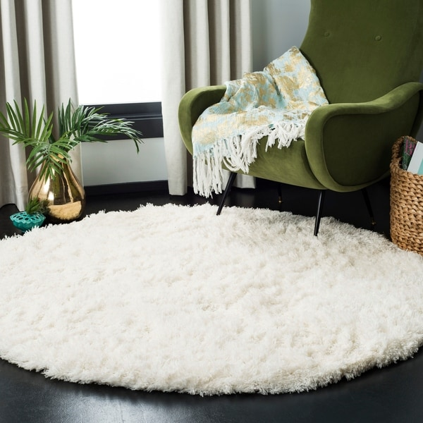 Shop Safavieh Polar White Shag Rug