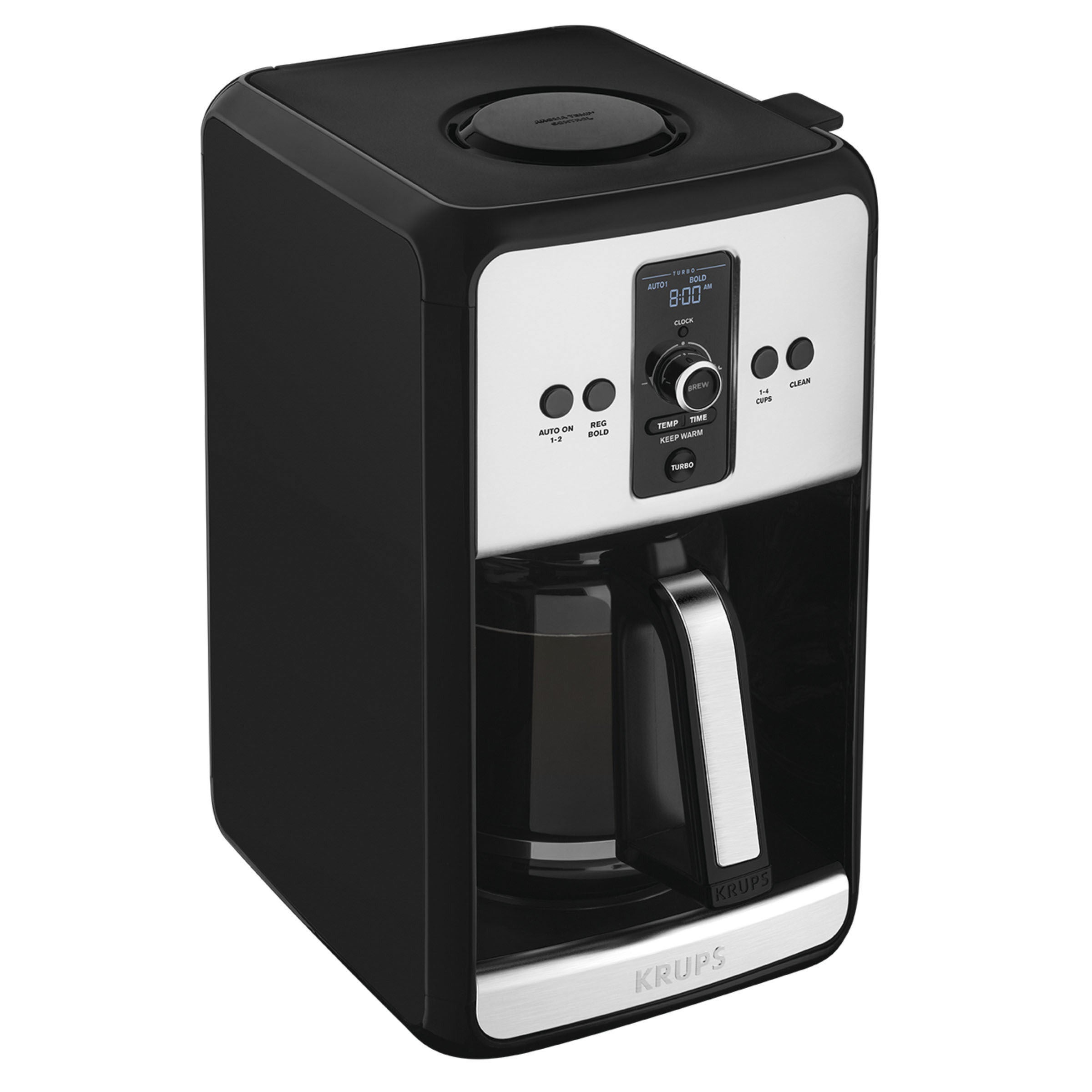 Krups EC411050 Savoy Turbo Coffee Maker (Black/Stainless)...