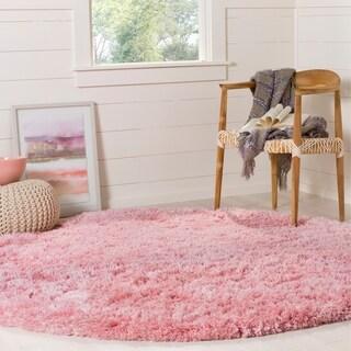 safavieh polar light pink shag rug 6u0027 7 round