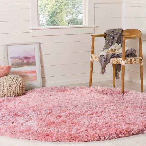 Shop Safavieh Polar Light Pink Fluffy Shag Rug
