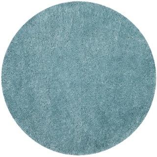 Safavieh Polar Light Turquoise Shag Rug (6' 7 Round)