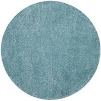 Safavieh Polar Light Turquoise Shag Rug - 6' 7 Round