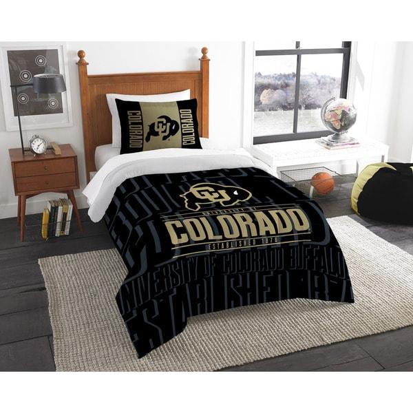 The Northwest Company Colorado University Black/Gold Polyester Twin 2-piece Comforter Set
