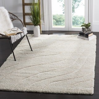 Safavieh Florida Ultimate Shag Contemporary Cream Rug (6' 7 Square)
