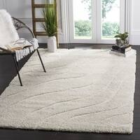 Safavieh Florida Ultimate Shag Contemporary Cream Rug - 6' 7 Square