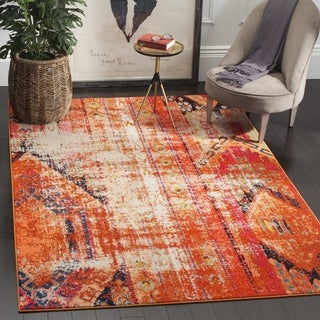 Safavieh Monaco Vintage Bohemian Orange/ Multi Distressed Rug (5' Square)