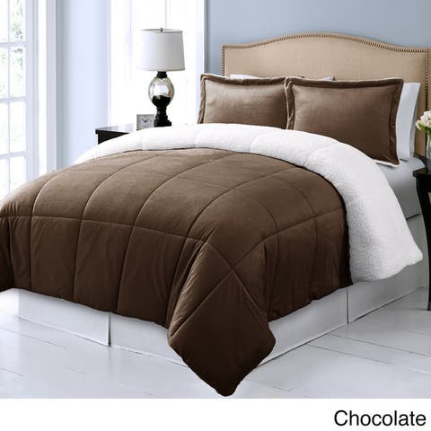 Microplush Reversible To Micromink Down Alternative 3-piece Comforter Set