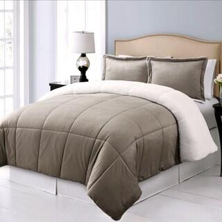 Microplush Reversible To Micromink Down Alternative 3-piece Comforter Set