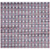 Safavieh Montauk Handmade Geometric Flatweave Coral/ Multi Cotton Rug - 4' Square