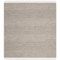 Safavieh Hand-Woven Montauk Flatweave Ivory/ Steel Grey Cotton Rug - 6' Square