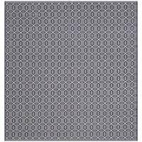 Safavieh Montauk Handmade Geometric Flatweave Ivory/ Navy Cotton Rug - 6' Square