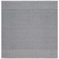 Safavieh Hand-Woven Montauk Flatweave Ivory/ Navy Cotton Rug (6' Square)