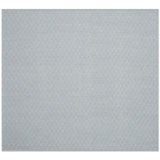 Safavieh Hand-Woven Montauk Flatweave Ivory/ Light Blue Cotton Rug (6' Square)