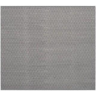 Safavieh Handmade Flatweave Montauk Eliina Casual Cotton Rug (4 x 4 Square - Ivory/Navy)